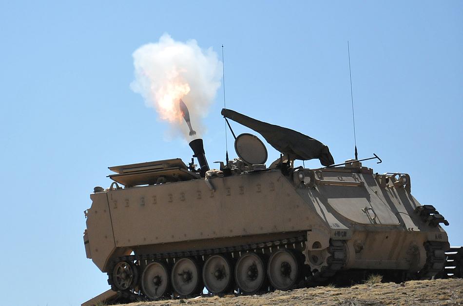 Mortar Fire Control System : Military photos mm head down range