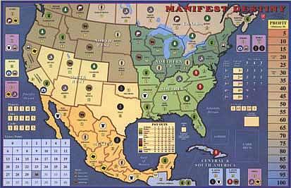 Manifest Destiny Map United States