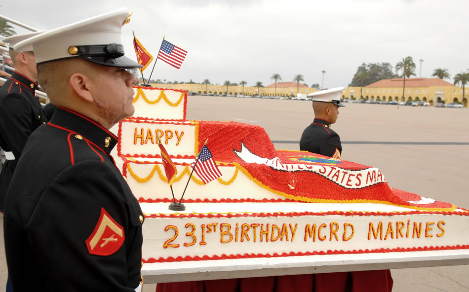 A Birthday Cake Worthy Of The Marines