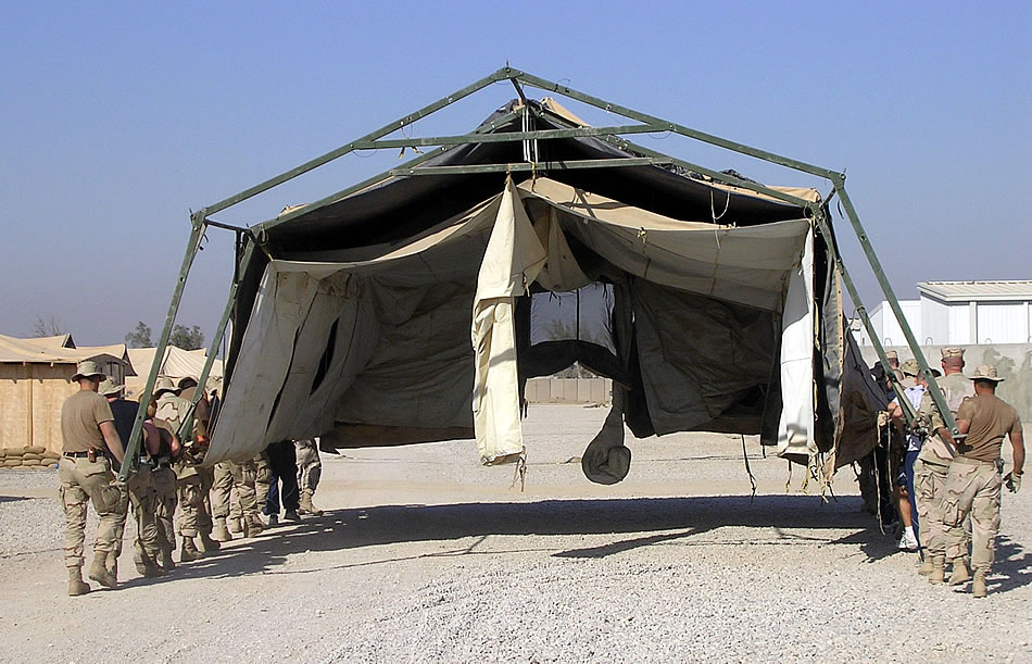 Military Photos Tent on the Move