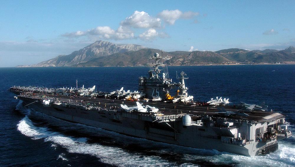Strait of Gibraltar (Oct. 31, 2004) – The Nimitz-class aircraft carrier USS