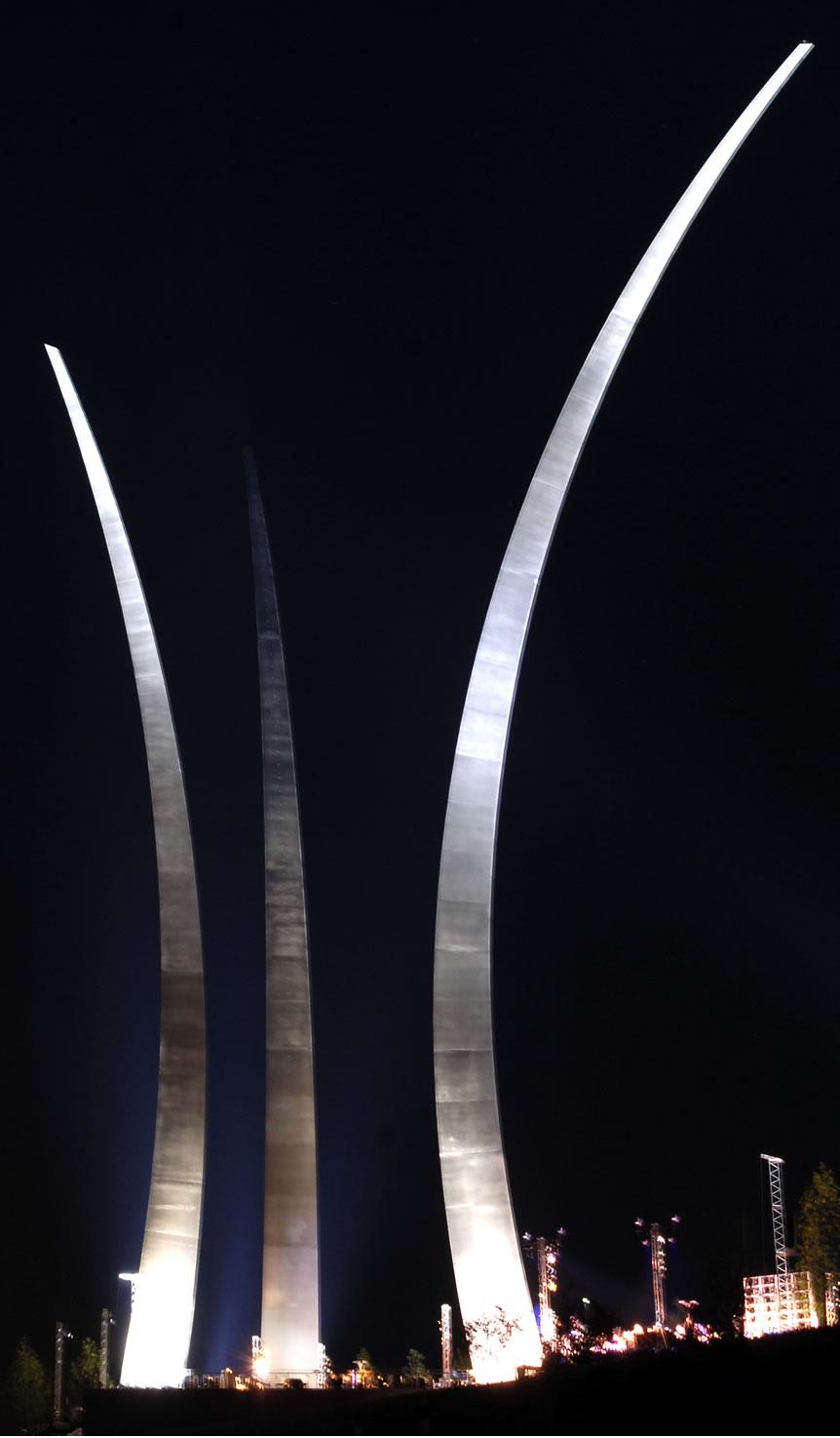 Military Photos New Us Air Force Memorial At Night