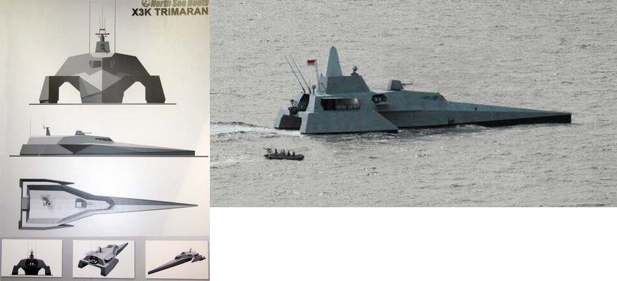 Military Photos North Sea X3K trimaran - Indonesian Hot Rod